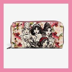 ❗️NEW❗️Loungefly Disney Princesses Zip Wallet